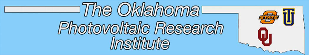 Logo for the Oklahoma Photovoltaic Research Institute