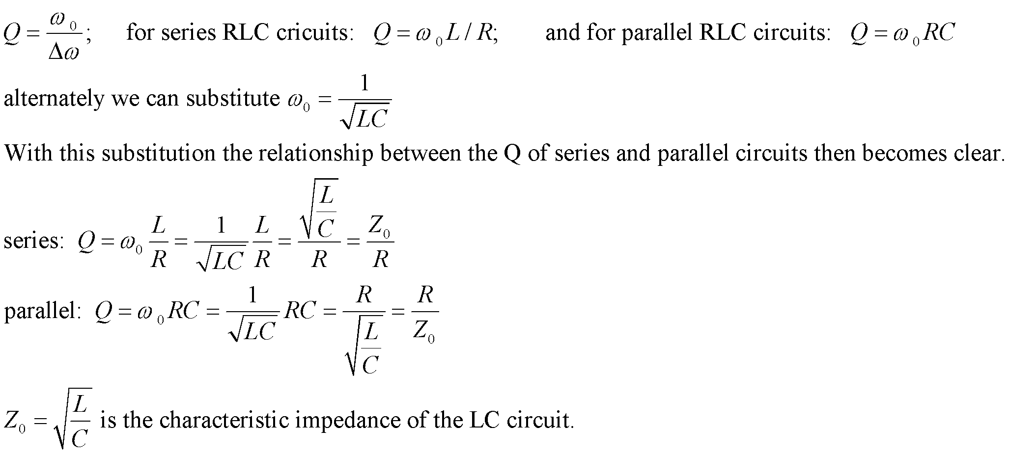 La Bumm Phys2303 Ac Steady State Circuits Impedance Rc Rl By Simplifying The Circuit With Equivalent We Get You Will Also Need Use Context Of Equation To Distinguish Between And F Because Formally They Both Have Units